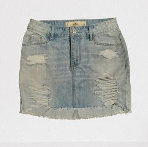 Hollister Distressed Denim Skirt